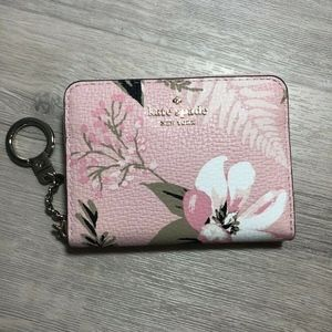 Kate Spade Botanical Dani Key Ring Pink Wallet